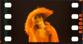 Claire Windsor, 1922, test. Kodachrome Two-Color samples from the Kodak Film Samples Collection at the National Science and Media Museum in Bradford. Credit: National Science and Media Museum Bradford. Photographs by Barbara Flueckiger in collaboration with Noemi Daugaard.