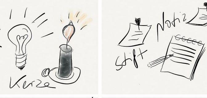 Sketchnote - Sketche und Notes