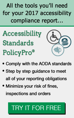 2017 AODA accessibility compliance report