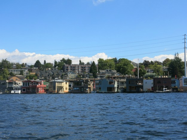 A row of houseboats