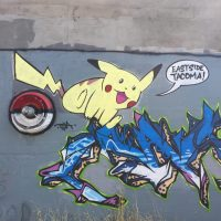 Pokemon Wall on McKinley Hill