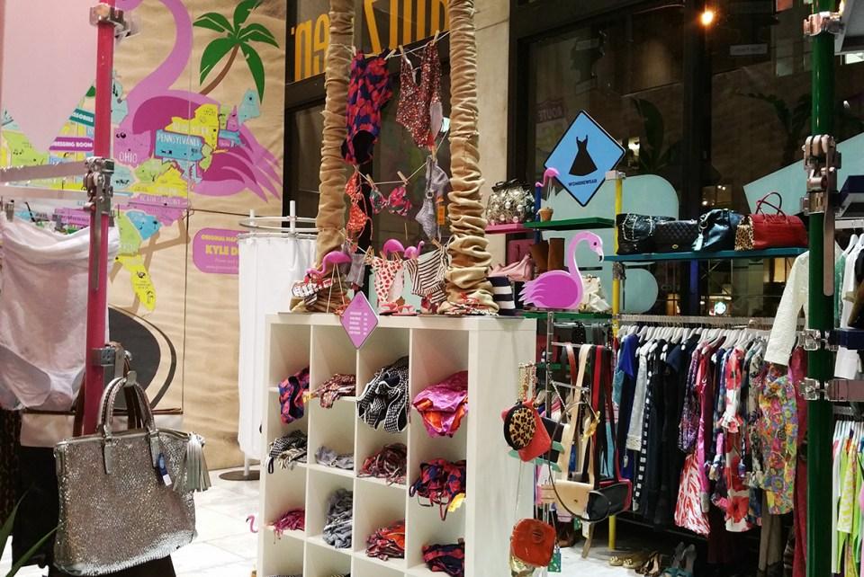 Holiday Road Show pop up shop in Pomerantz Center lobby