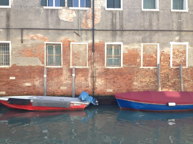 Boats across from Atelier Nicolao.