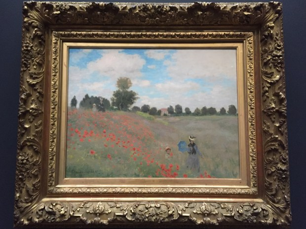 """""""Poppies"""" by Monet in the Musée d'Orsay."""