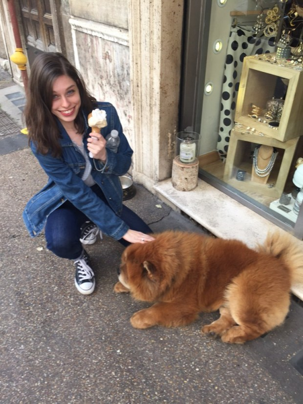 Gelato and a puppy ... AKA the best moment of my life.