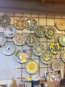 A few examples of painted ceramic plates!