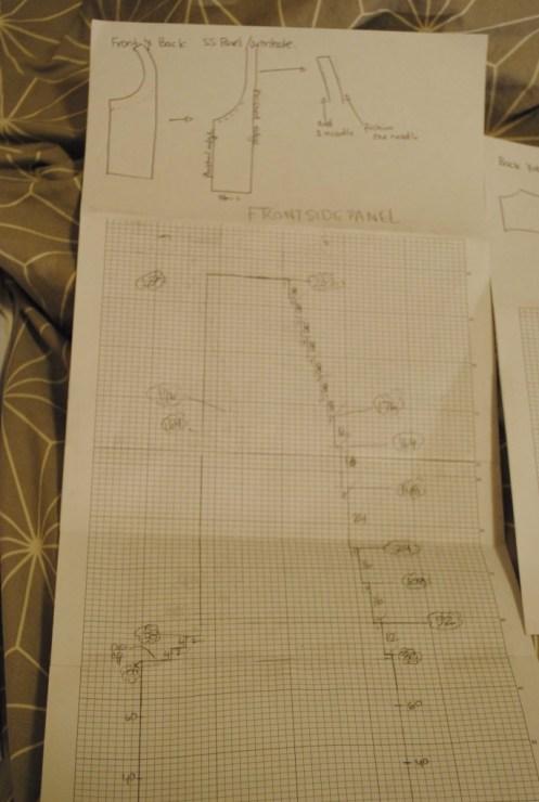 knitting plan for side-panel.