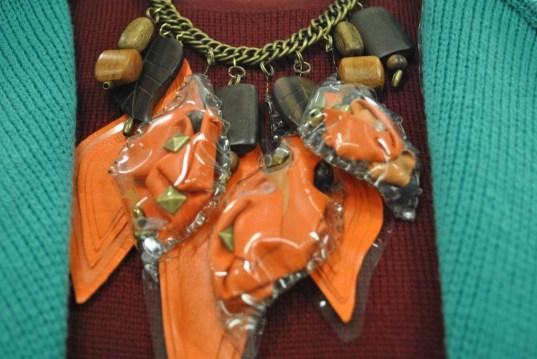 closeup of necklace.