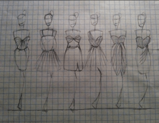 Sketches of Graduation dress ideas