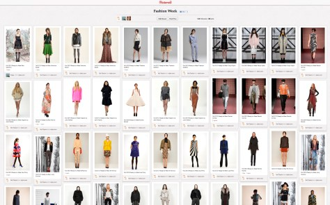 Fashion Week Pinterest Board