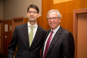 Eric Johnson, Director, New York Economic Development Corporation and Morris Goldfarb, Chairman, CEO and President, G-III, FIT Foundation Director