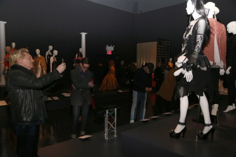 guests viewing garments in the gallery