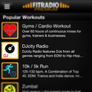 workout music, workout music app, djcity, fit radio, dj music, workout playlists