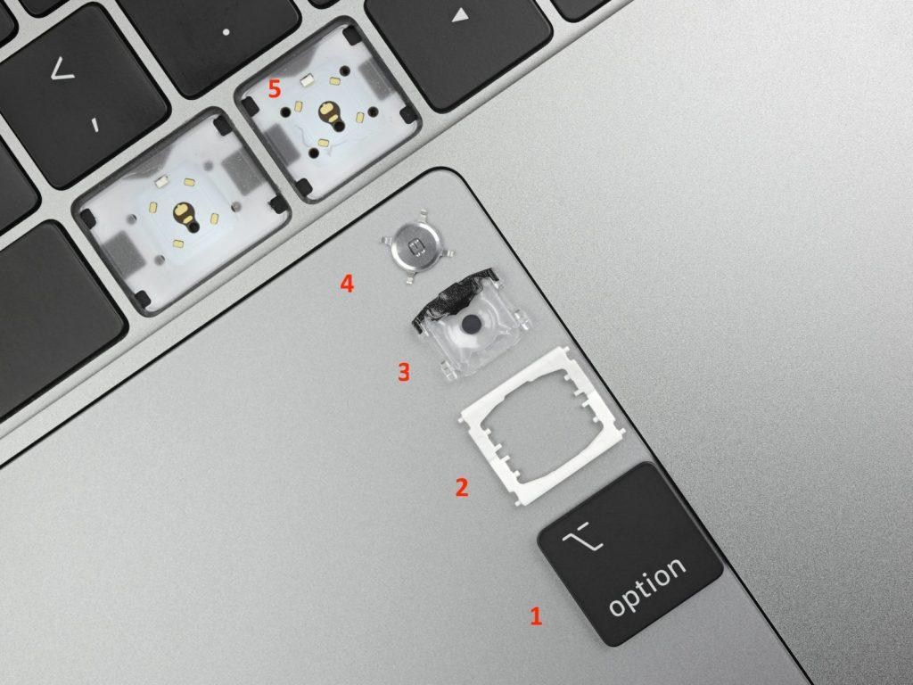 Про конструкцию клавиш в компьютерах Macbook Pro и новшества в моделях 2019 года