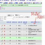 phpmyadmin文字化け画面