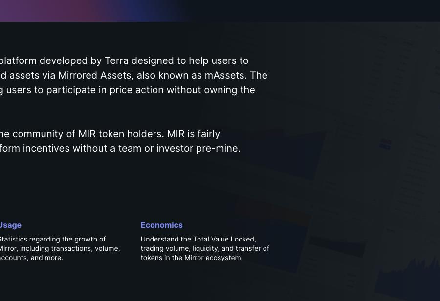 Mirror Community Console