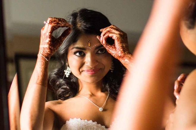 Flora Nova Design Seattle - Colorful Indian Wedding at the Edgewater Hotel. Indian Bride, Henna