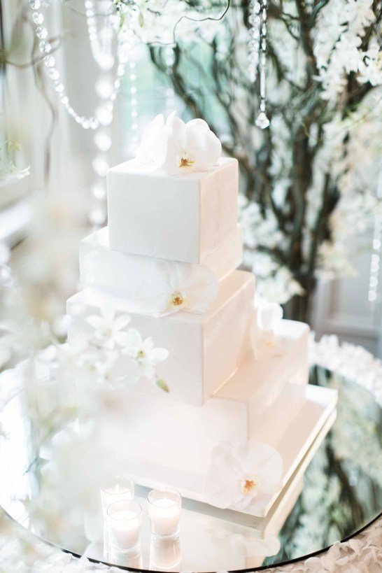 Flora Nova Design Seattle - Orchid Wedding at the Rainier Club. phalaenopsis orchids on wedding cake
