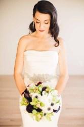 Flora Nova Design Seattle - Contemporary Black and White Seattle Art Museum Wedding. Black, White, and Green Bridal Bouquet