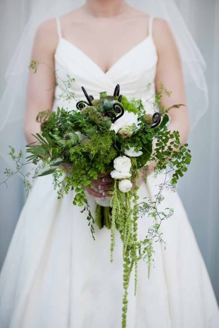 Flora Nova Design Green Wedding Bouquet
