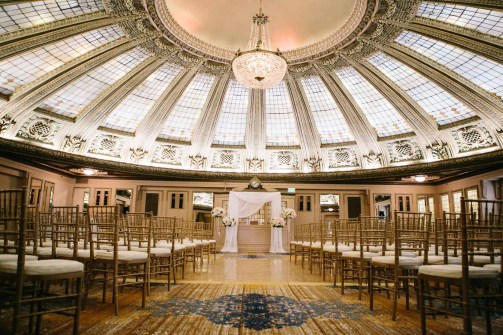 Flora Nova Design Seattle - Classic blush wedding arch at Arctic Club