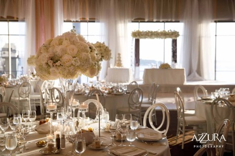 Elegant formal white four seasons wedding Seattle Flora Nova Design