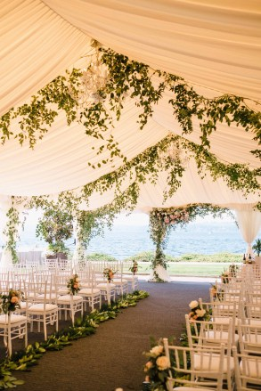 Blush and Greenery Tent Wedding Flora Nova Design Seattle