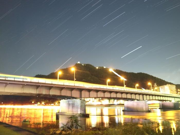 岐阜城と鵜飼いと星空と