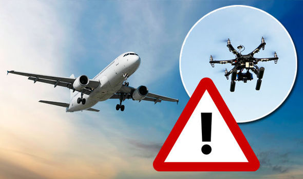 Drone crash warning poster