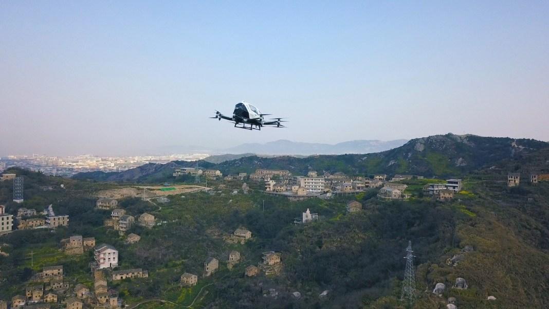 Pilotless Drone taxi Ehang 216
