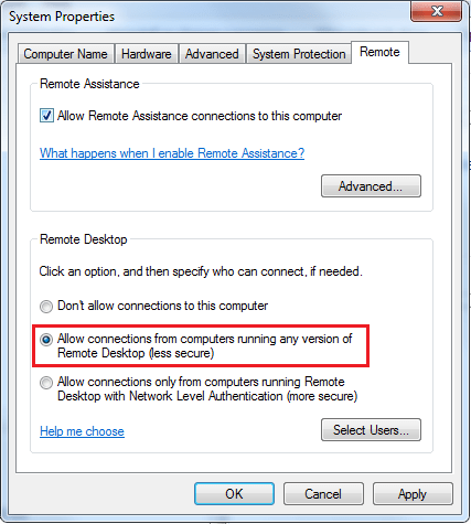 Remote Desktop Authentication Error Has Occurred. The function