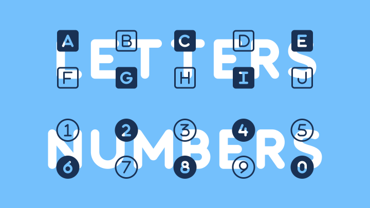 Letter and Number-based Icons in Font Awesome 6 Alpha 2