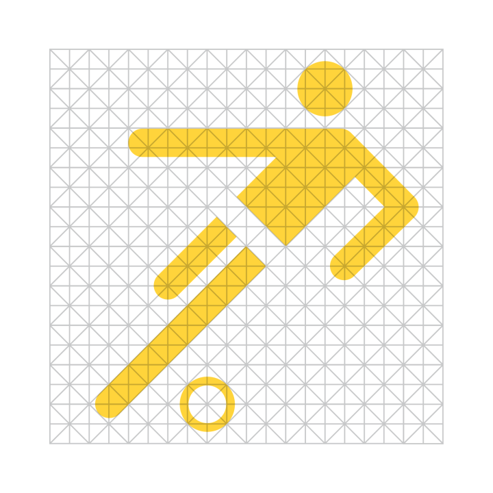Image of the icon grid used by Otl Aicher.
