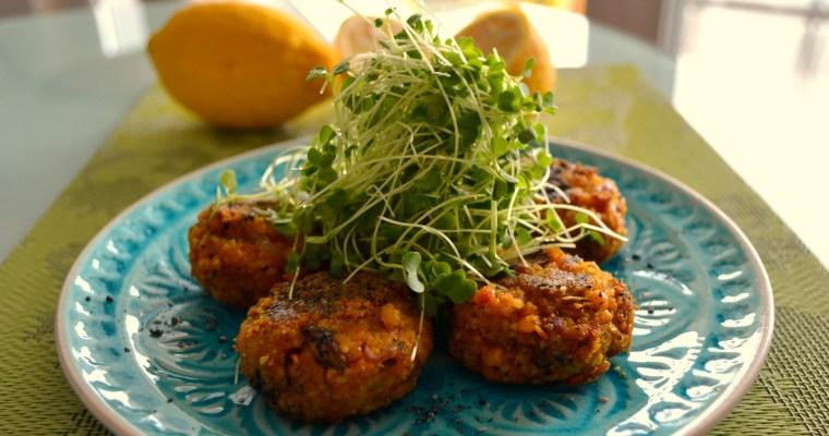 Weltküche – Speisewicke-Zitronen-Burger mit frischen Sprossen