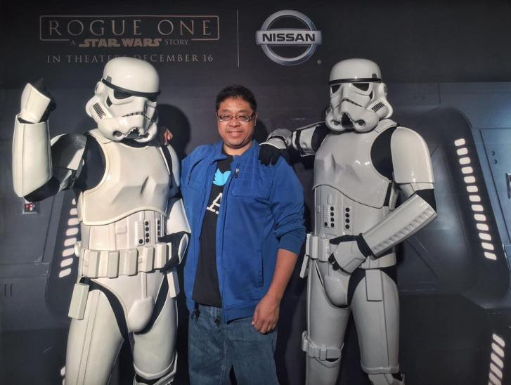 Calvin Lee with Storm Troopers