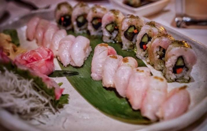 CHAYA DTLA sushi and sashimi