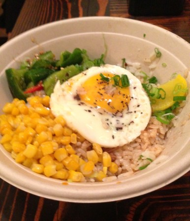 Egg rice bowl