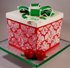 2 tartas de navidad con obleas para tartas 1