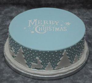 2 tartas de navidad con obleas para tartas 2