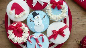 5 ideas de decoración para cupcakes navideños