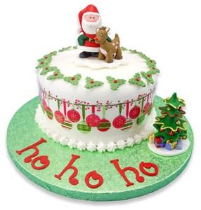Cómo combinar bases para tartas con Navidad 1
