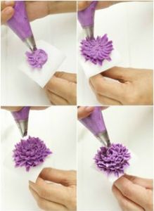 Cómo hacer flores con boquillas y manga pastelera básicas 2