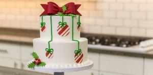 Se acerca la temporada navideña Como preparar una tarta navideña con oblea para tarta