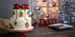 Se acerca la temporada navideña Como preparar una tarta navideña con oblea para tarta4