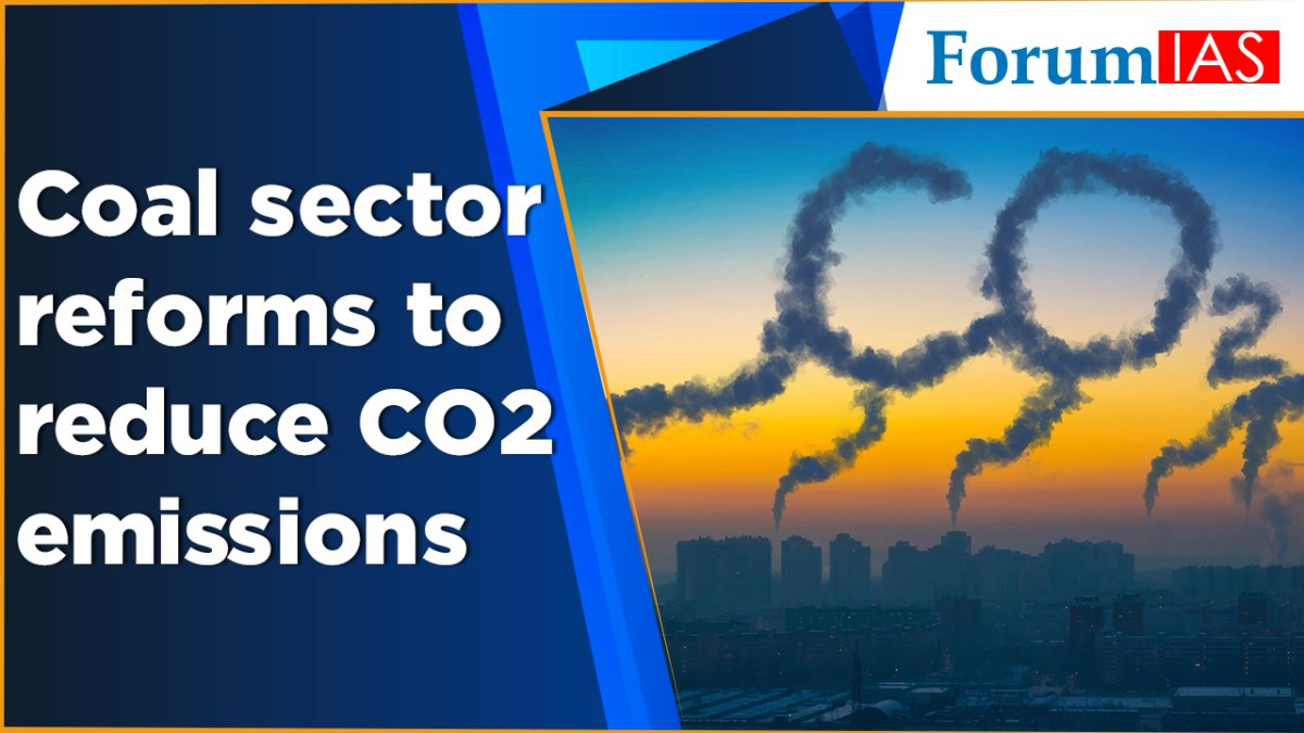 Coal sector reforms to reduce CO2 emissions