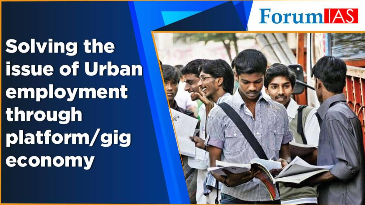 Solving the issue of Urban employment through platform