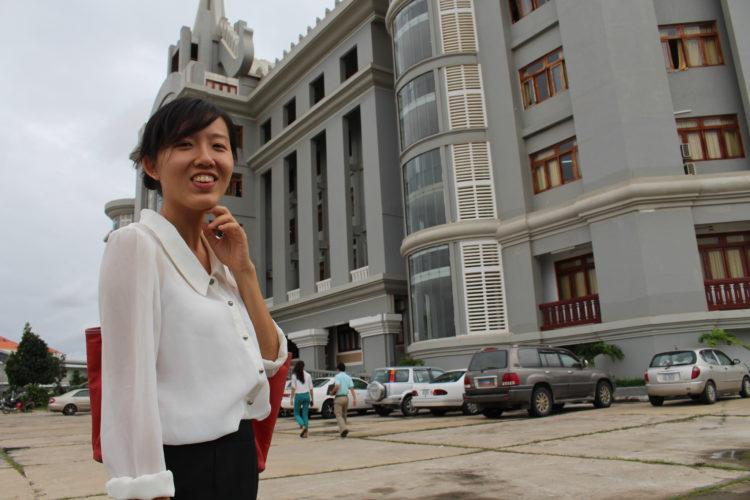 Hong Phuc Dang at Norton University Phnom Penh, Cambodia