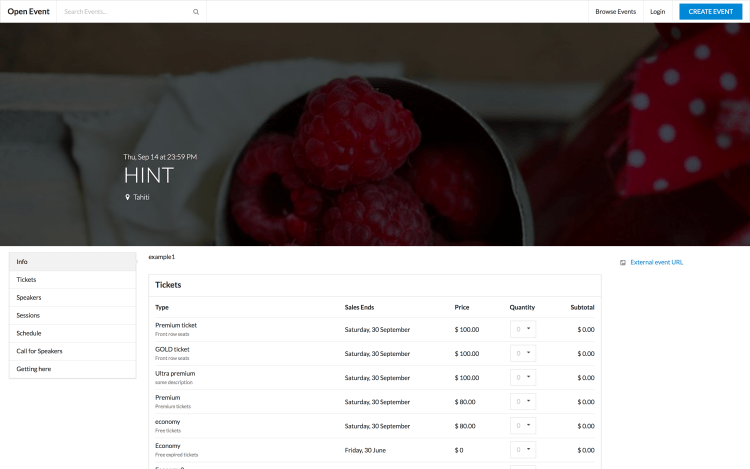 Implementing Tickets API on Open Event Frontend to Display Tickets