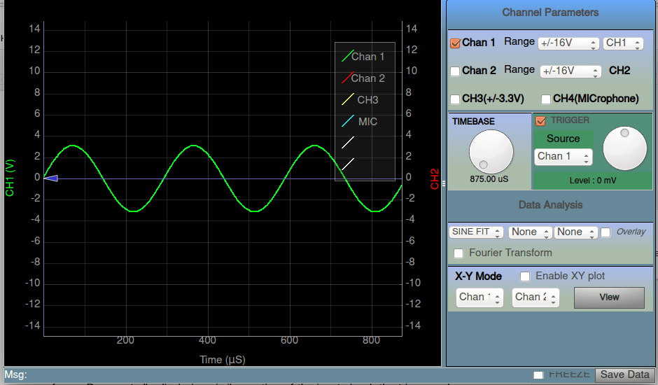Trigger Controls in Oscilloscope in PSLab
