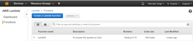 Susi part 15 to get the amazon resource name in a new tab visit here visit lambda followed by get started button click on create a lambda function malvernweather Image collections